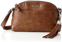 Tamaris Melanie Crossbody Bag - Borse a tracolla Donna, Braun (Cognac), 2x15x25 cm (B x H T)
