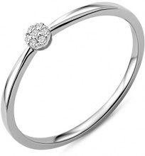Miore Anelli Donna oro bianco 9 carati Diamante