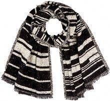 PIECES Pcjessica Long Scarf, Sciarpa Donna, Multicolore (Black), Taglia unica