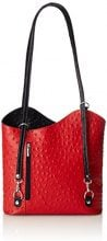 Chicca Borse 3005 Borsa a Spalla, 30 cm, Rosso con Manico Nero