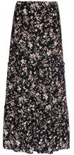 FIND Floral Tiered Maxi Gonna Donna, Nero (Black Mix), 46 (Taglia Produttore: Large)