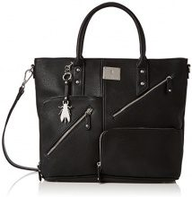 Fly London Guip610fly - Borse a mano Donna, Black, 8x41x33 cm (W x H L)