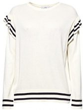 edc by Esprit 028cc1i020, Felpa Donna, Bianco (Off White 110), Medium