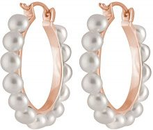 Bella Pearls Donna 925 Placcato oro rosa argento Bottone perla cinesa da coltivazione