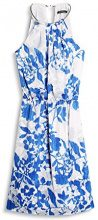 ESPRIT Collection 047eo1e032, Vestito Donna, Multicolore (Bright Blue 2), 36