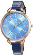 Time Piece - Orologio da polso da donna, alla moda, analogico, al quarzo, in pelle, TPLA-91026-35L