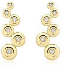Carissima Gold Orecchini Pendenti da Donna, Oro Giallo 9K (375), con Diamante