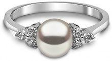 Kimura Pearls - Anello, oro bianco 9 carati (375), Donna, 17
