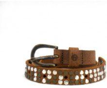 Cintura Timberland  A19V1 marrone cintura donna pelle nabuck borchie