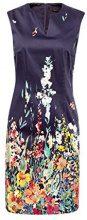 ESPRIT Collection 048eo1e017, Vestito Donna, Blu (Navy 400), 44 (Taglia Produttore: 38)