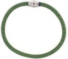 Adara argento e verde Braccialetto semirigido brillante con chiusura magnetica