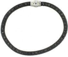 Adara, colore: nero Argento, Braccialetto semirigido brillante con chiusura magnetica