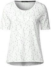 Cecil 311882, T-Shirt Donna, Weiß (Pure Off White 20125), Medium