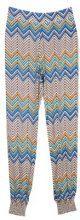Pantaloni in felpa con stampa zigzag