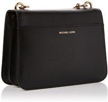 Michael Kors Mott Charm Shoulder Bag - Borse a spalla Donna, Nero (Black), 8x17x23 cm (W x H L)