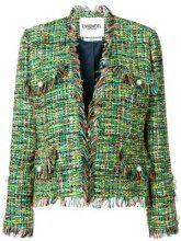 Essentiel Antwerp - Giacca di tweed con frange - women - Cotton/Acetate/Viscose/Polyester - 36, 40 - GREEN