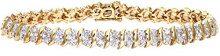 Naava Bracciale da Donna, Oro Giallo, 9 Carati, Diamante