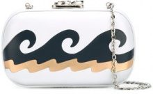 Corto Moltedo - 'Susan C Star' lido clutch - women - Nappa Leather/Silk Satin - OS - WHITE