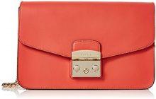 FURLA Metropolis Small Shoulder Bag - Borse a spalla Donna, Arancione (Mango D), 8x16x25 cm (B x H T)