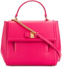 Salvatore Ferragamo - Carrie top handle bag - women - Leather - OS - PINK & PURPLE