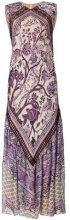 Alberta Ferretti - Vestito lungo stampato - women - Silk/Acetate/Spandex/Elastane/Cotton - 42, 44 - PINK & PURPLE