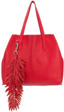 P.A.R.O.S.H. - fringed oversized shopping bag - women - Leather - One Size - RED