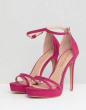 Head Over Heels by Dune - Sandali per uscire rosa acceso con cinturino alla caviglia e tacco - Rosa