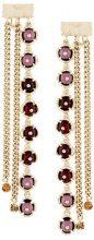 Koché - Orecchini pendenti decorati - women - Brass/glass - OS - METALLIC