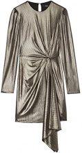 FIND Vestito Asimmetrico Metallizzato Donna, Oro (Gold), 44 (Taglia Produttore: Medium)