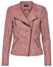 ONLY Leather Look Jacket Women Pastel