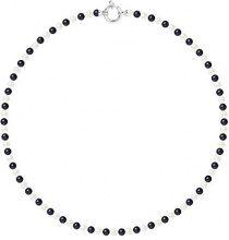 Pearls & Colors Collana di perle Donna argento 925_argento perla rotonda - AM17-COL-AG-R45-AML-WHBL