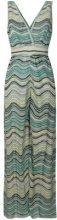 M Missoni - Tuta di maglia con scollo a V - women - Cotton/Polyamide/Polyester/Metallic Fibre - 40, 42 - GREEN
