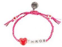 Venessa Arizaga - braccialetto 'Heart Throb' - women - Cotone/ceramic - OS - PINK & PURPLE
