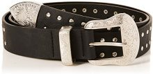New Look Oversized Studded Western, Cintura Donna, Nero (Black 1), 80