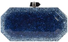 Marchesa - marbeled box clutch bag - women - Acrylic - OS - BLUE