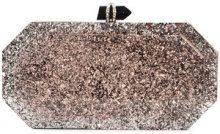 Marchesa - marbeled box clutch bag - women - Acrylic - OS - Rosa & viola
