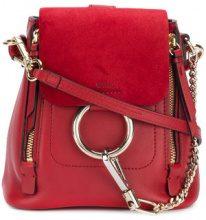 Chloé - Zaino Faye Mini - women - Calf Leather - OS - RED