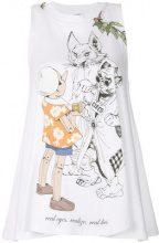 Scrambled_Ego - printed tank top - women - Cotton - S, M - WHITE