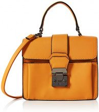 New Look Theresa Colour Block Top Handl:87:s99 - Borse a mano Donna, Giallo (Dark Yellow), 3.5x7x6.5 cm (W x H L)