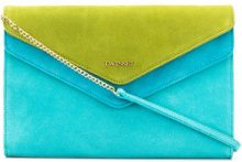 Twin-Set - Borsa Clutch - women - Suede - OS - BLUE