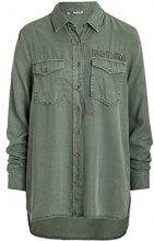 Timezone Blouse, Camicia Donna, Grün (Military Green 4012), S