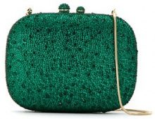 Isla - embellished clutch - women - Glass Fiber/Polyester - OS - GREEN