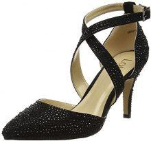 Lotus Star, Scarpe col Tacco con Plateau Donna, Black (Black/Diamante), 37 EU