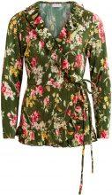 VILA Flower Patterned, Wrap Blouse Women Green