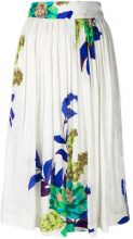 Etro - floral print pleated skirt - women - Viscose/Silk - 44 - WHITE
