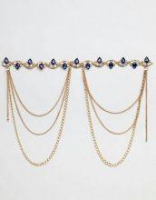 Savage Rainbow - Cintura a catena con ciondoli e gemme incastonate - Oro