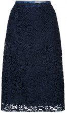 Miu Miu - floral lace skirt - women - Cotton/Polyester - 42, 40, 38, 44 - BLUE
