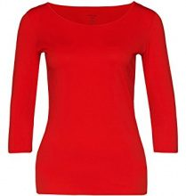 Marc Cain Essentials MarcCainDamenT-Shirts+E4812J03, t-Shirt Donna, Rot (Scarlet 272), 42 (5)