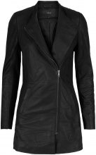 Y.A.S Soft Long Leather Jacket Women Black