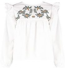 Petite Hana Embroidered Long Sleeve Top